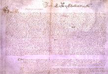 I 1628 sendte det engelske parlament denne erklæring af borgerrettigheder til kong Charles I.