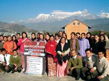 前任警察督察長管理尼泊爾的那可拿,他們迄今已經對130萬人發表過毒品教育演講。國家。