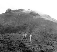 Uma aproximação do vulcão de Martinica, Monte Pelée.