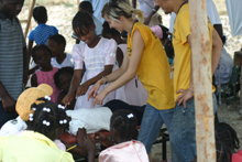 Training others to help.