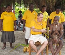 Scientology Volunteer Ministers South Pacific Goodwill Tour Leader describes one of the workshops he delivered to the Paramount Chief.