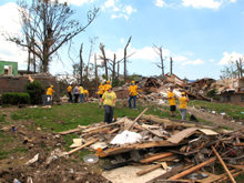 To date the Scientology Volunteer Ministers have chopped trees, hauled debris and helped repair over 30 houses in Pratt City.