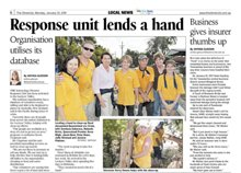 Volunteer Ministers featured in Toowoomba's Chronicle with Queensland State Premier Anna Bligh and parliament member Julie Attwood