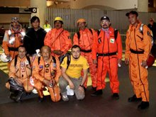 The first group of Los Topos left Mexico and arrived in Japan 15 March 2011 local time.