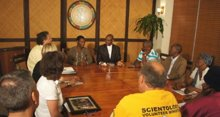 Paramount King Molefe, traditional king of the Batlokwa Nation, was introduced to the Volunteer Ministers program at the Church of Scientology of Johannesburg.