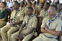 Students at special graduation at Lord Baden Powell Memorial School in Dar es Salaam, Tanzania, on completion of Volunteer Minister Disaster Response Training
