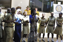 "Singer Grace Paul performed an original Swahili song based on the motto of the Scientology Volunteer Ministers with students joining her in the chorus: ""No matter the situation, something can be done about it."