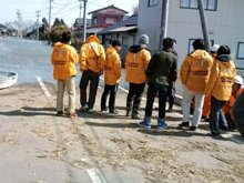 One of four assessment teams inspecting disaster areas.