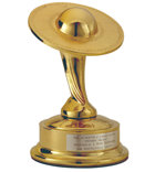 «Сатурн»— Академия научной фантастики.  В знак признания за выдающийся бестселлер Л.РонаХаббарда «Поле битвы— Земля».