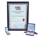 La Cravate d'Or avec Rosette – Federación Nacional de la Cultura Francesa Por los logros sobresalientes de L.RonaldHubbard en el campo de las artes, las ciencias y la literatura.