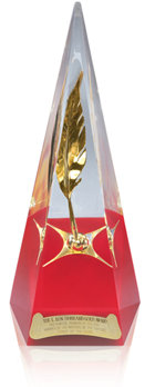 El Premio de Oro L.RonaldHubbard del Concurso de Escritores del Futuro.