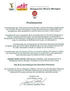 De afkondiging van de Jongeren voor Mensenrechten Dag in Mexico