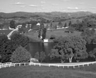 Creston, Californie ; ranch de L. Ron Hubbard au milieu des années 1980.