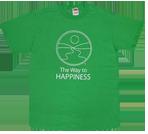 T-shirt med Vägen till lycka-motiv
