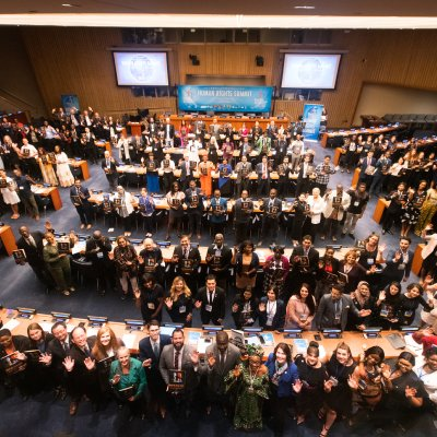 Human Rights Summit Draws Youths to U.N. from 45 Nations