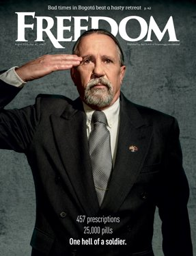 "Freedom Magazine. ""War, On Drugs"" issue cover"