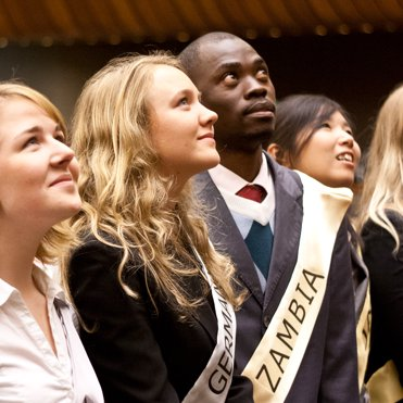Youth for Human Rights delegates from Germany, Denmark, Zambia