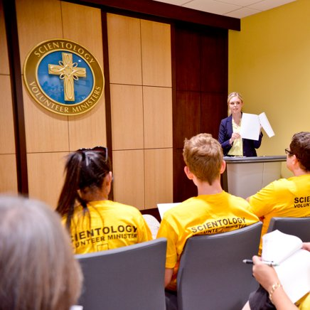 Scientology Volunteer Ministers briefed about the current events
