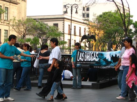 Anti-drug materials distributed in Mexico
