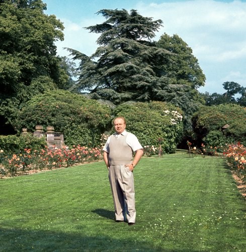 L. Ron Hubbard in the Rose Garden